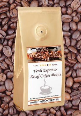 Verdi Espresso Decaf Coffee Beans
