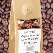 Fair-Trade Organic Sumatra Gayo Mountain Green Coffee